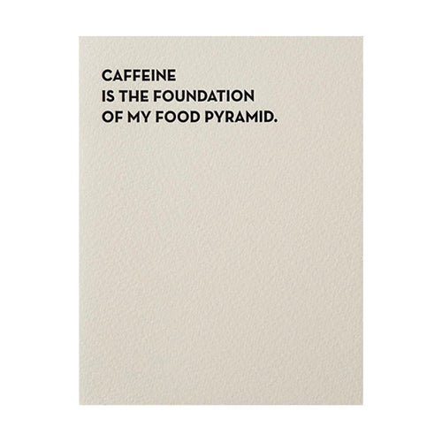 "Sapling Press ""Caffeine"" Greeting Card"
