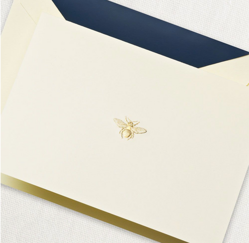 Crane and Co Engraved Bee Note Cards, Set of 10