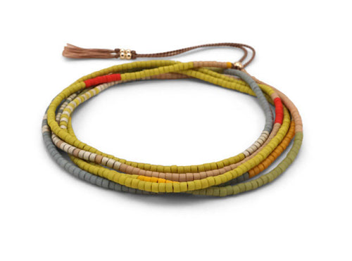 Abacus Row Simi Wrap Bracelet/Necklace