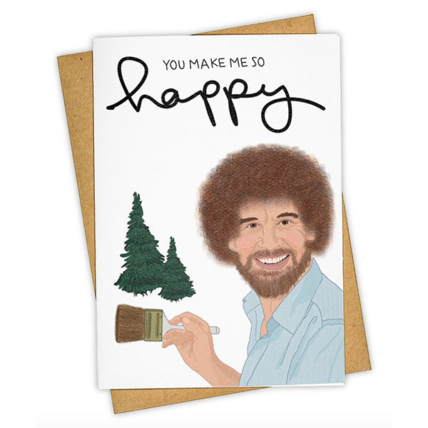 "Tay Ham ""Happy Trees"" Greeting Card"