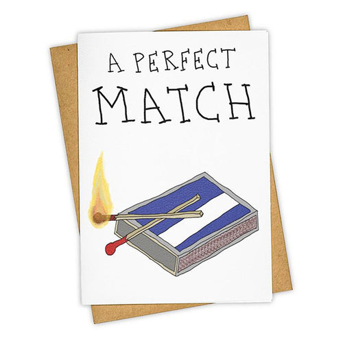 "Tay Ham ""Perfect Match"" Greeting Card"