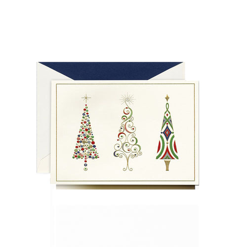 Crane and Co Engraved Viennese Trees Greeting Cards, Box of 10