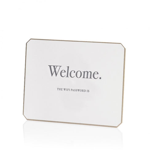 Bell'INVITO Letterpress Wifi Password Card-Block / Blank