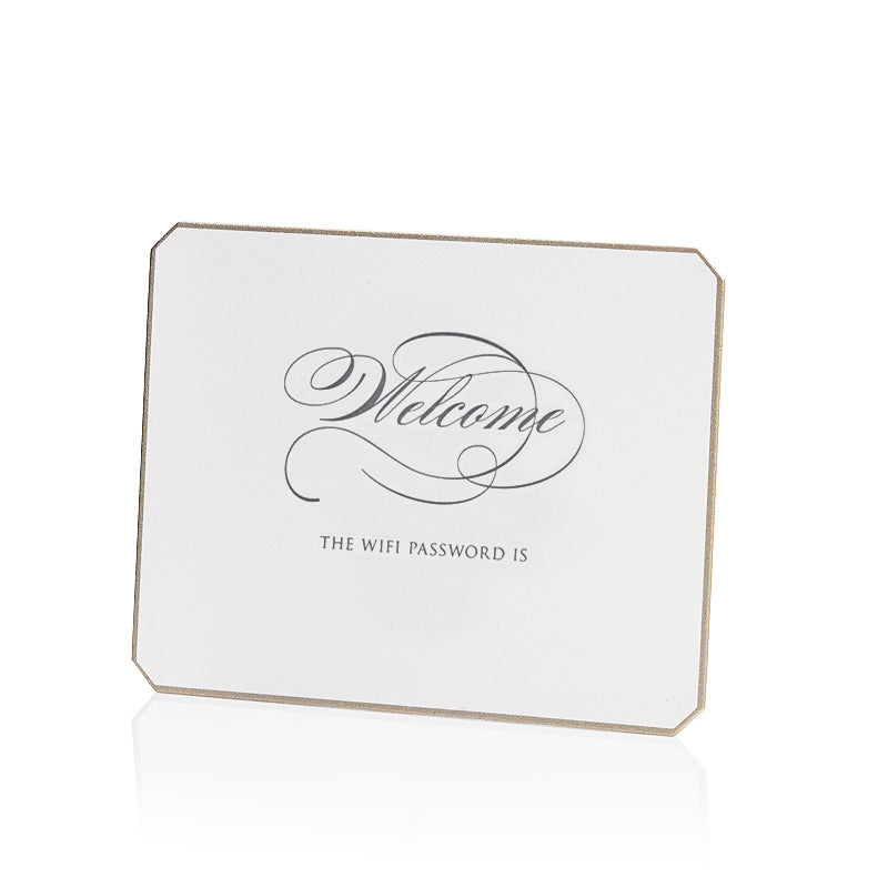 Bell'INVITO Letterpress Wifi Password Card-Script / Blank
