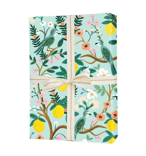 Rifle Paper Gift Wrapping Sheets, Shanghai Garden- 1 Flat Sheet