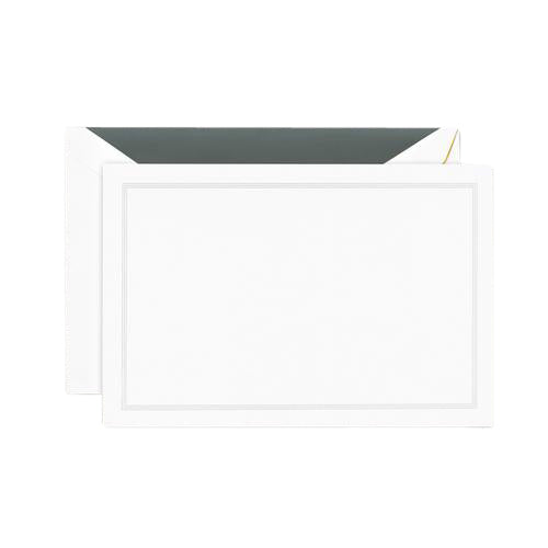 Crane and Co. Charcoal Triple Hairline Correspondence Cards