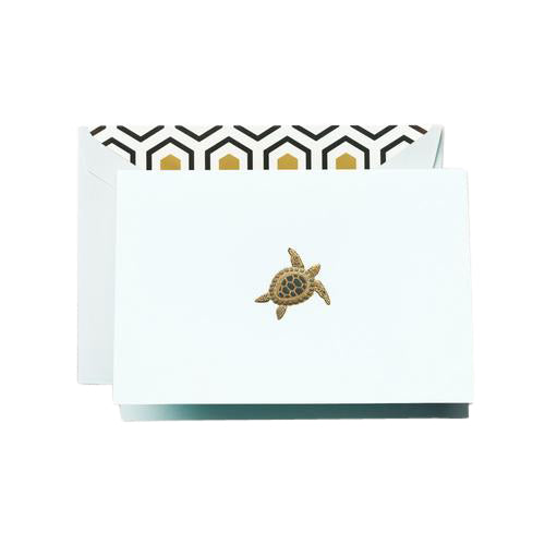 Crane and Co. Hand Engraved Turtle Boxed Cards