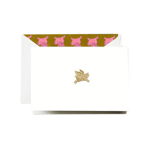 Crane and Co. When Pigs Fly Note Cards