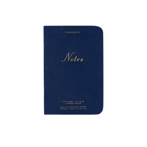 Crane and Co Notes Navy Notebook