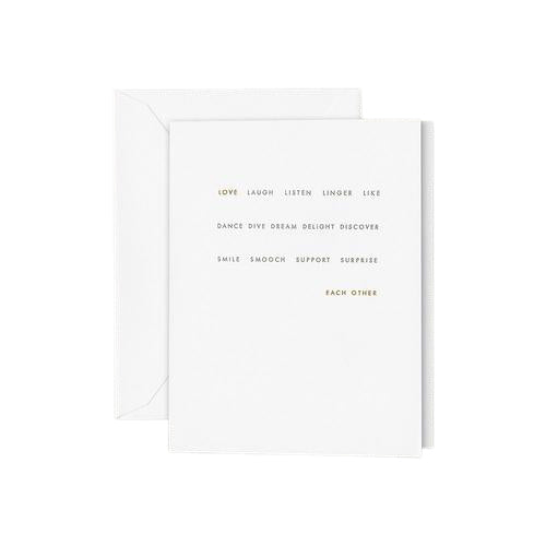 "Crane and Co ""Live Love Laugh"" Wedding Greeting Card"