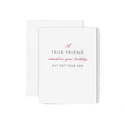 "Crane and Co ""True Friend"" Birthday Greeting Card"