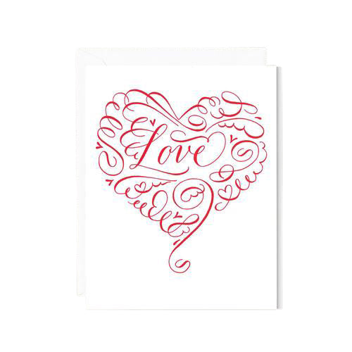 Crane and Co Red Love Greeting Card