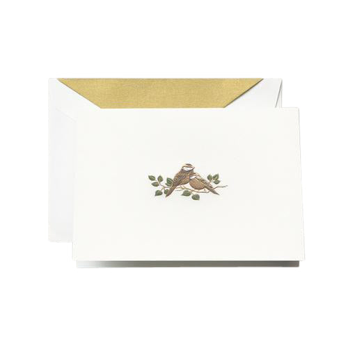 Crane and Co. Hand Engraved Love Bird Boxed Cards