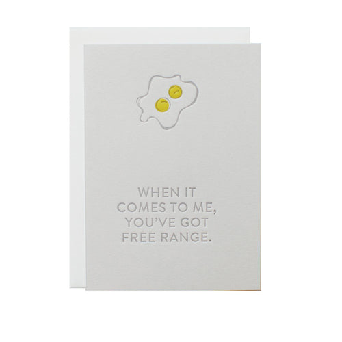 "Alee Press Letterpress ""Foodie Free Range"" Greeting Card"
