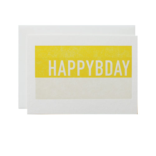 "Alee Press Letterpress ""Stacked Happy Birthday"" Greeting Card"