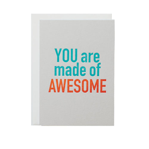 "Alee Press Letterpress ""Awesome You"" Greeting Card"