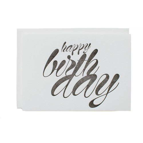 "Alee Press Letterpress ""Happy Birthday"" Greeting Card"