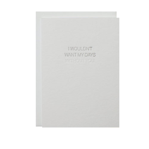 "Alee Press Letterpress ""Love, Without You"" Greeting Card"