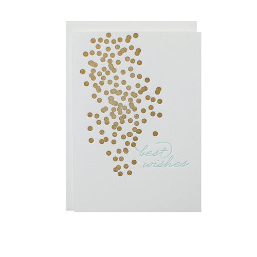 "Alee Press Letterpress ""Best Wishes"" Greeting Card"