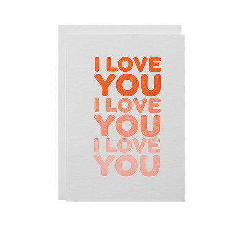 "Alee Press Letterpress ""I Love You"" Greeting Card"