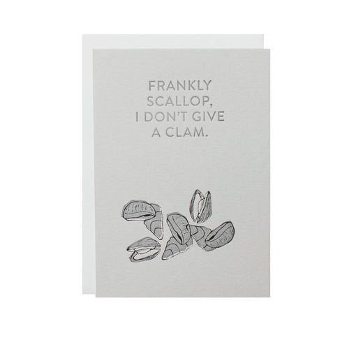 "Alee Press Letterpress ""Frankly Scallop"" Greeting Card"