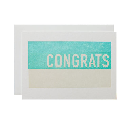 "Alee Press Letterpress ""Stacked Congrats"" Greeting Card"