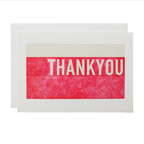 "Alee Press Letterpress ""Stacked Thank You"" Greeting Card"