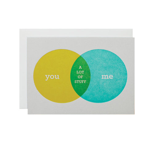"Alee Press Letterpress ""You and Me"" Greeting Card"
