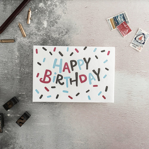 Hunter Paper Co. Birthday Confetti Letterpress Card