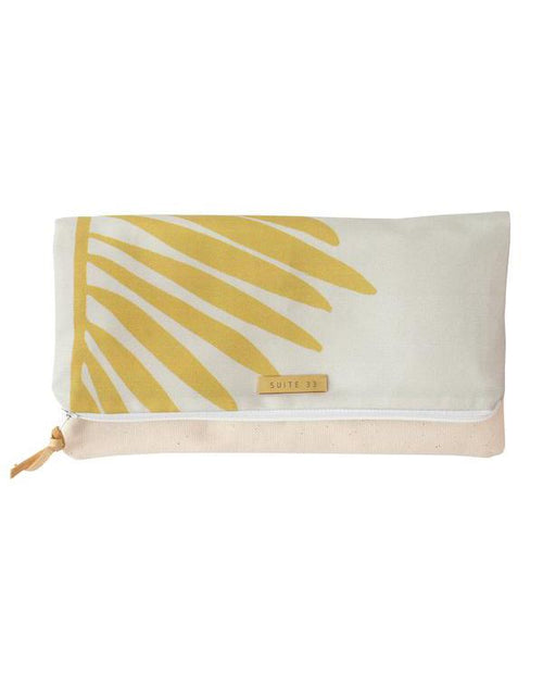 Suite 33 Chartreuse Palmetto Clutch
