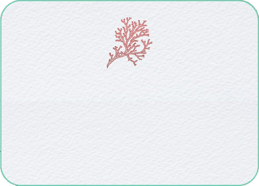 Pickett's Press Letterpress Coral Boxed Stationery