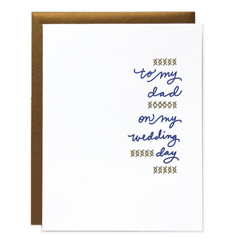 "Ramona and Ruth ""To Dad On My Wedding Day"" Greeting Card"