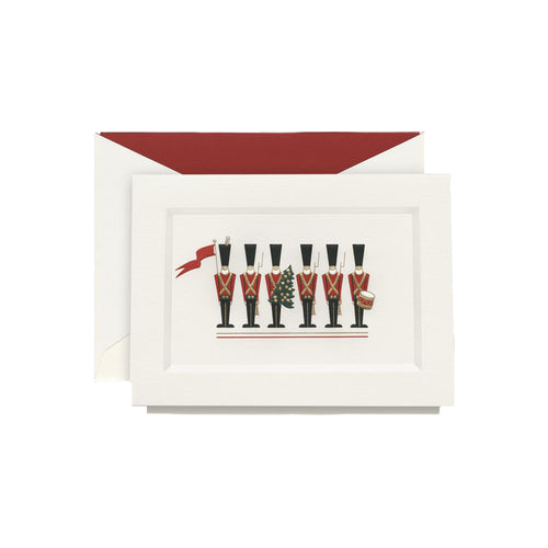 Crane and Co Engraved Toy Soldiers Greeting Cards, Box of 10