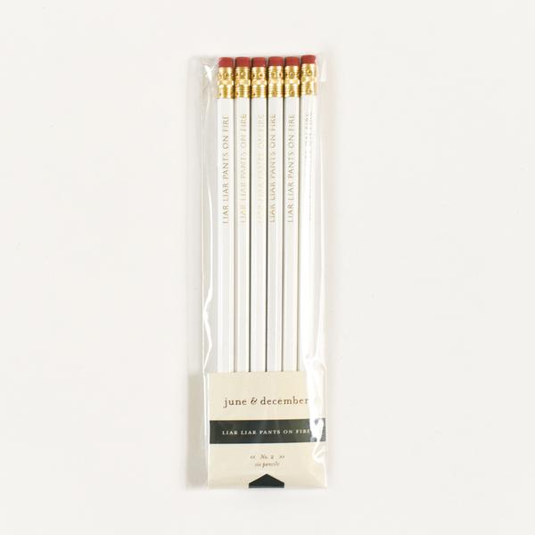 June & December Liar Liar Pants on Fire Pencils, Set of 6