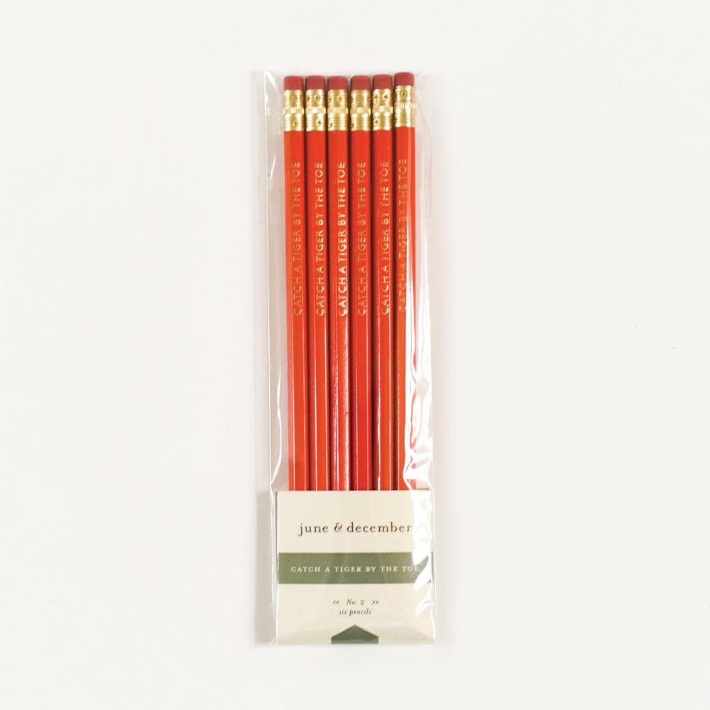 June & December Catch a Tiger by The Toe Pencils, Set of 6
