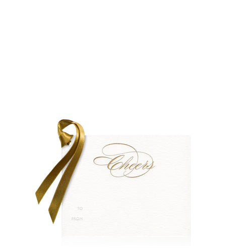 Bell'INVITO Gold Cheers Gift Tag