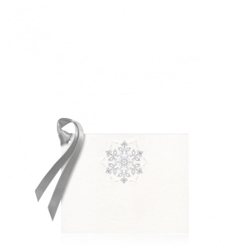 Bell'INVITO Gold and Silver Snowflake Gift Tag