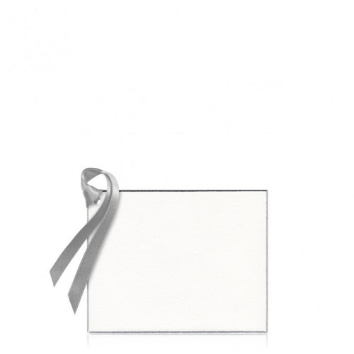 Bell'INVITO Silver Edged Gift Tag (Blank)