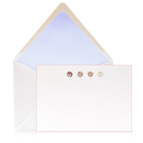 Bell'INVITO Emoji Note Cards-Set of 12