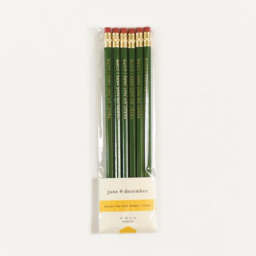 June & December Ready or Not Here I Come Pencils, Set of 6