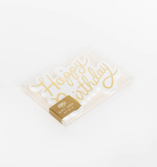 Rifle Paper Happy Birthday Die Cut Gift Tags- Set of 8