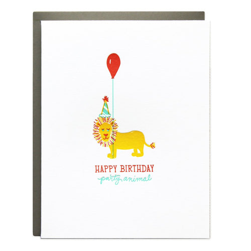 "Ramona and Ruth ""Party Animal"" Birthday Greeting Card"