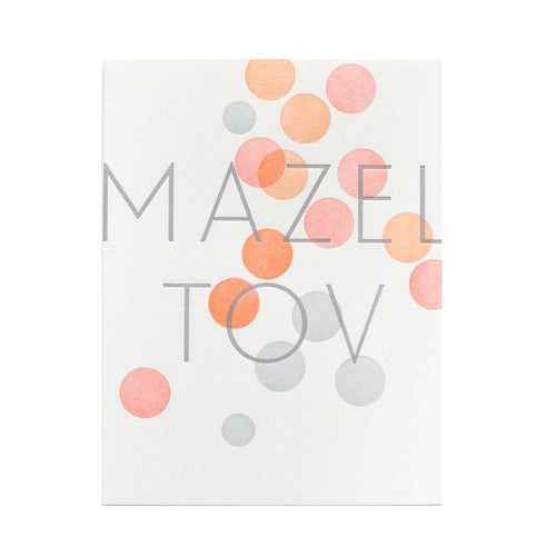 "Alee Press Letterpress ""Mazel Tov"" Greeting Card"