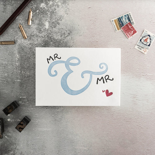 "Hunter Paper Co. ""Mr. and Mr"" Letterpress Wedding Card"