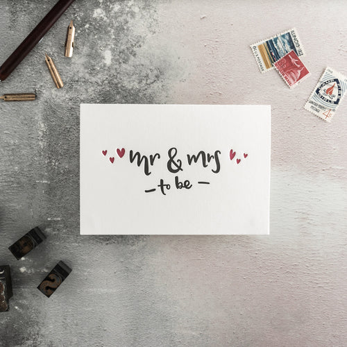 "Hunter Paper Co. ""Mrs. and Mrs."" Letterpress Card"