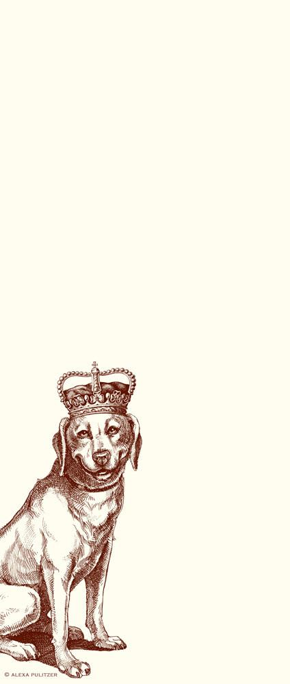 "Alexa Pulitzer ""Royal Labrador"" Long Notepad"