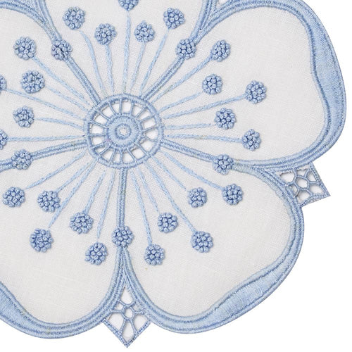 Haute Home Petal Coasters, Set of 4- Blue