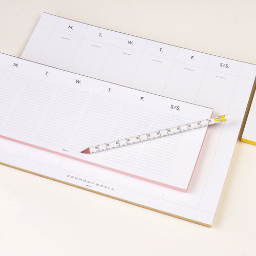 WMS & CO Weekly Desk Planner with Gold Foil edges