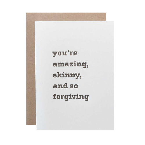 "Alee Press Letterpress ""You're Amazing"" Greeting Card"