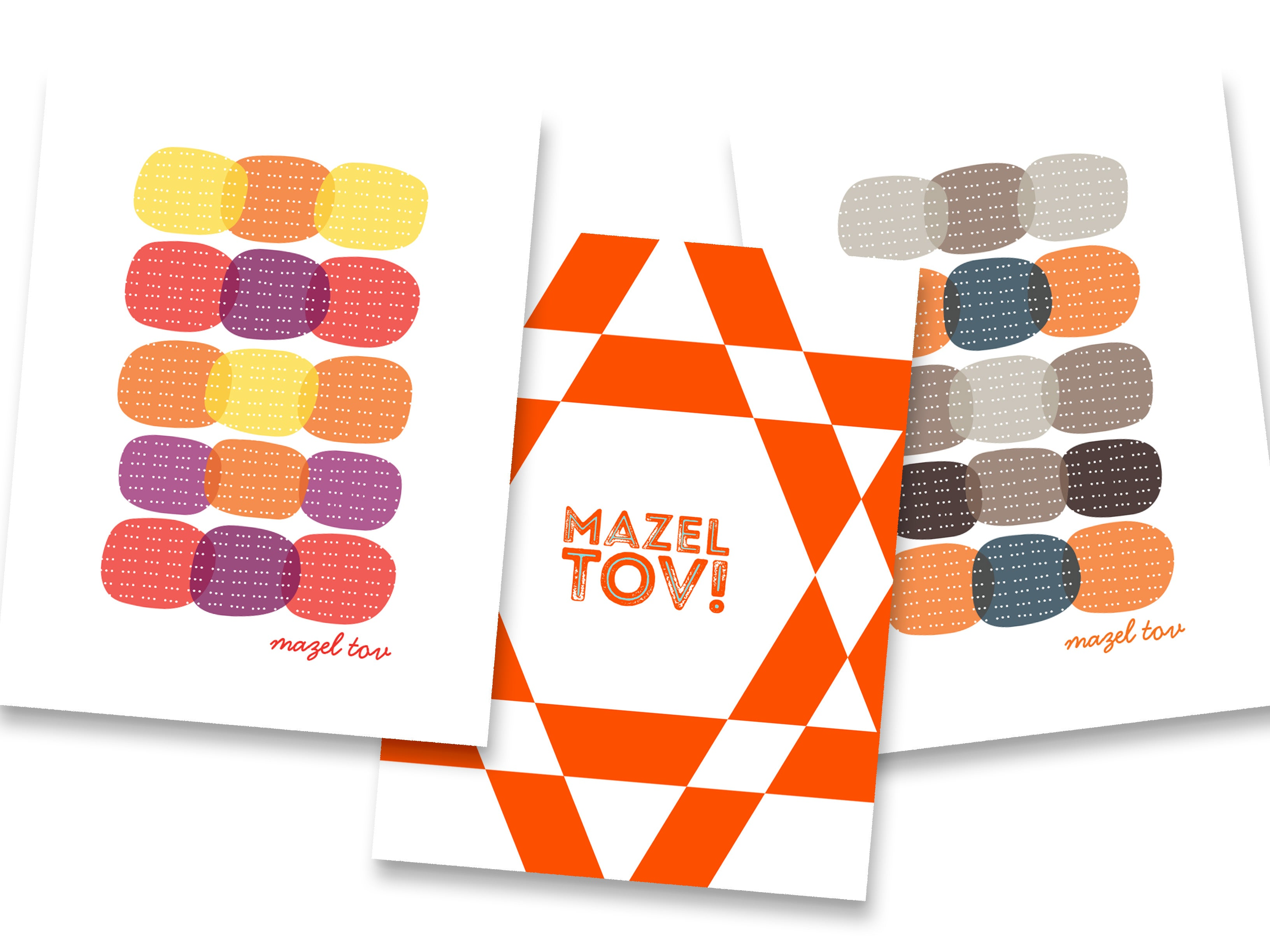Spinpin Creative Circles and Star Mitzvah Cards, Set of 3